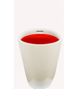 Puff DUCK NEW-BR, abs blanco, similpiel rojo